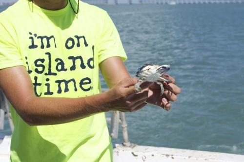 Crab, man
