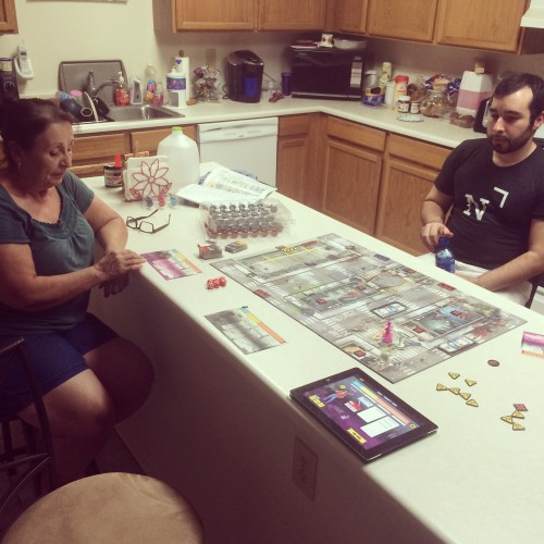 """Zombicide"" with mom"