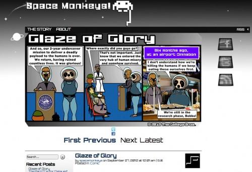 New Space Monkeys! site
