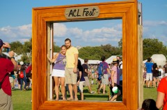 Very popular picture frame at the fest. There was a line here all the time.