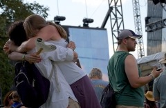 Random couple finds each other at the fest while other guy embraces the idea of his cell phone
