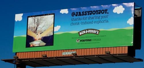 Photo by me! Austin billboard