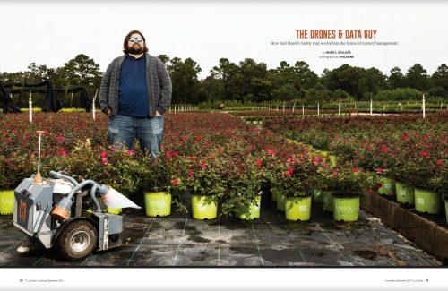 Drone expert Neil Marek at Magonlia Gardens Nursery